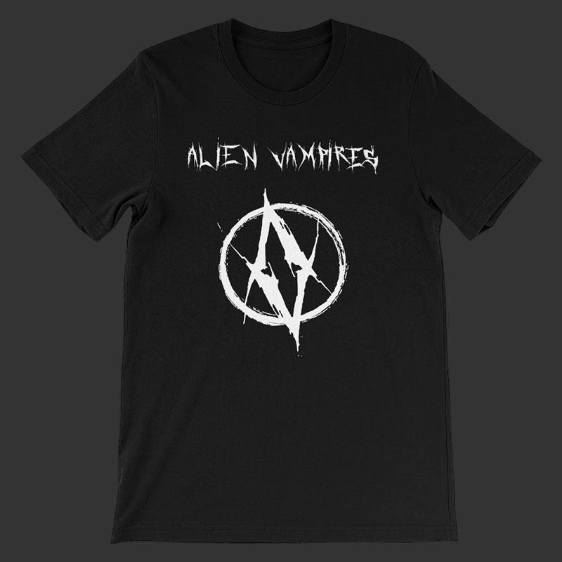 AV White Logo Unisex T-Shirt » ALIEN VAMPIRES