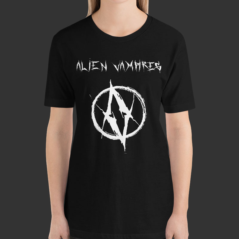 tshirt design 01 white 01 mockup Front Womens Black